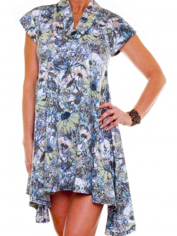 Jersey Swing Dress | Floral Print Dress