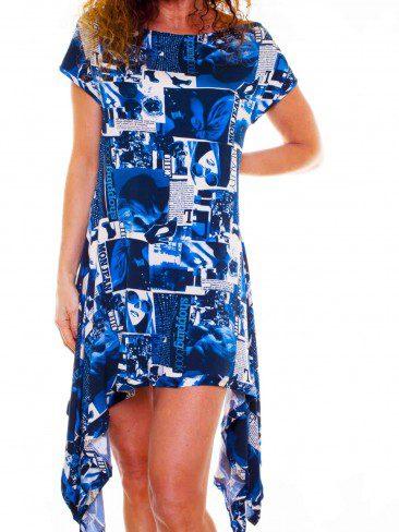Truly Blue Jersey Swing Dress