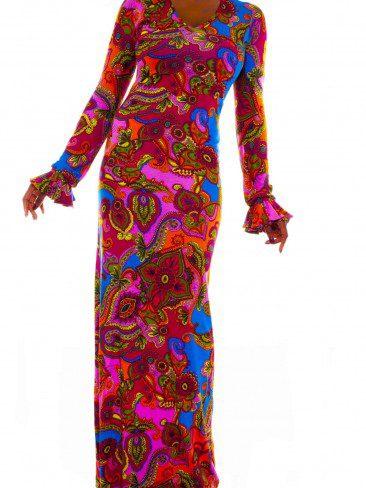 Floral Maxi Long Sleeve Dress