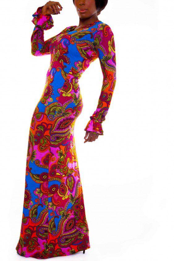 Long Jersey Knit Dress