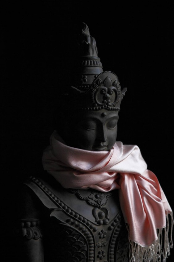 Pure silk pink scarf