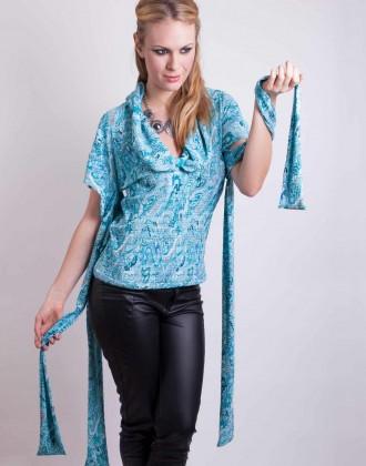 Blue paisley top