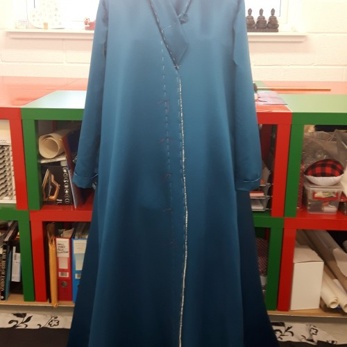 Couture Dressing Gown work in progress by Coral Turner