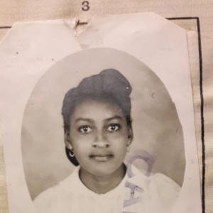 Mum passport photo