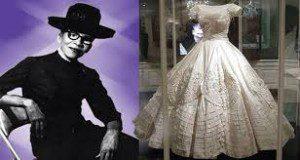 Ann Lowe with wedding dress