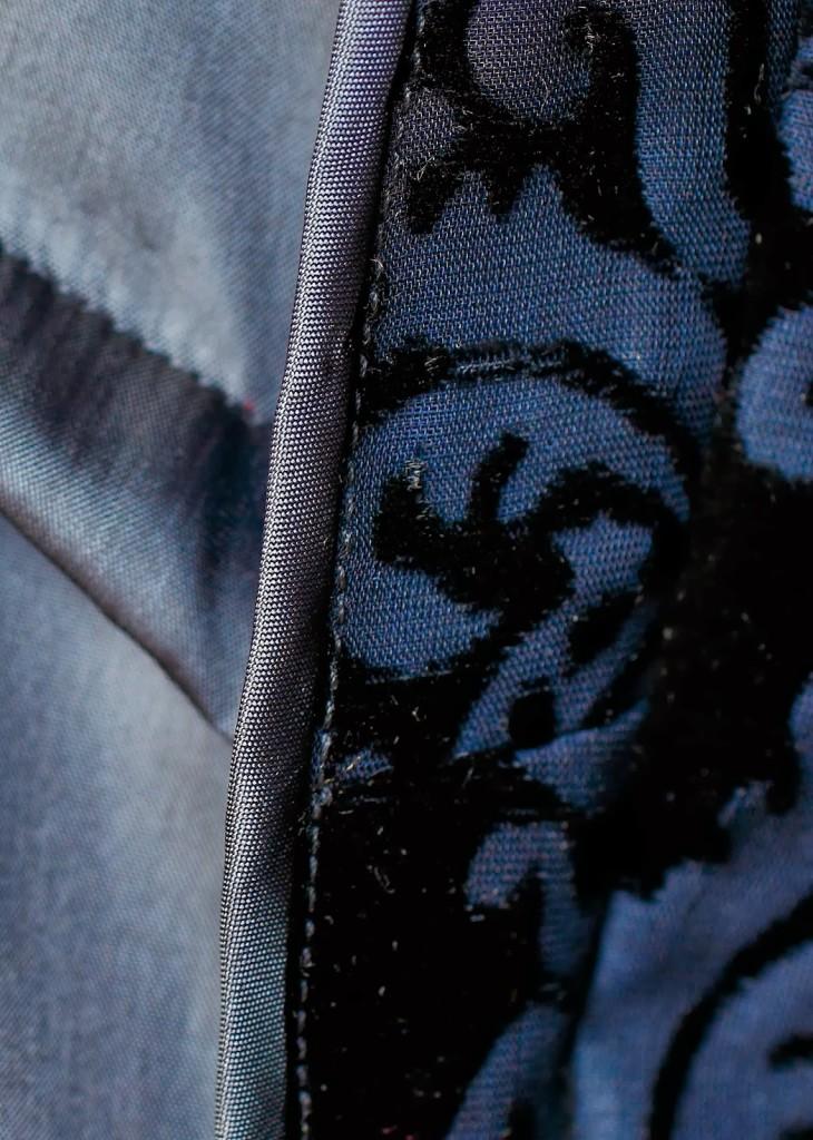 Silk Devore up close inside detail
