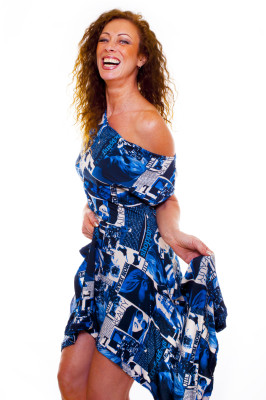 Truly Blue Handkerchief Hem Dress
